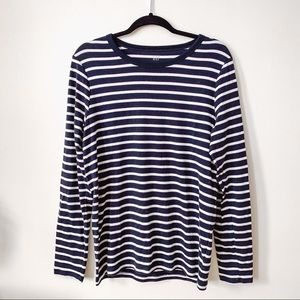 Navy + White Striped Modern Tee // GAP